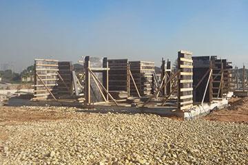 Mersin Mİ&DU projemiz'in bodrum katı tamamlandı. Zemin kalıp işleri tamamlandı.