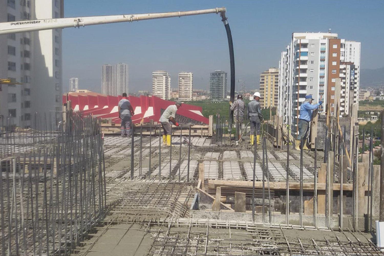 Mersin Mi&Du Projemizin 8.kat tabliye betonu döküldü.